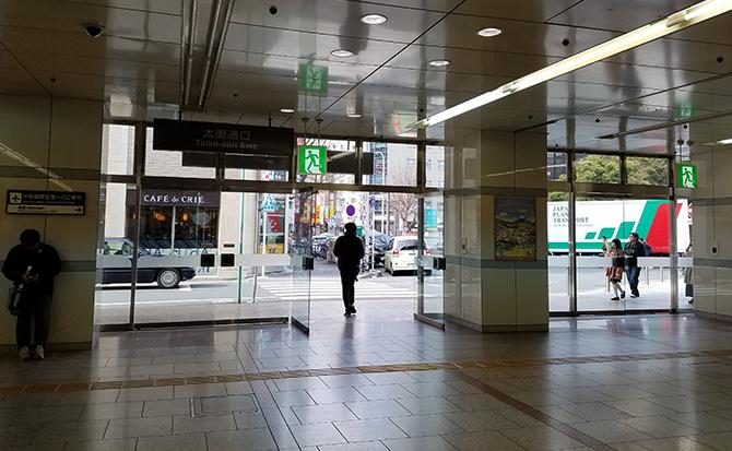 JR名古屋駅太閤通り口を出てすぐに左手側へ直進