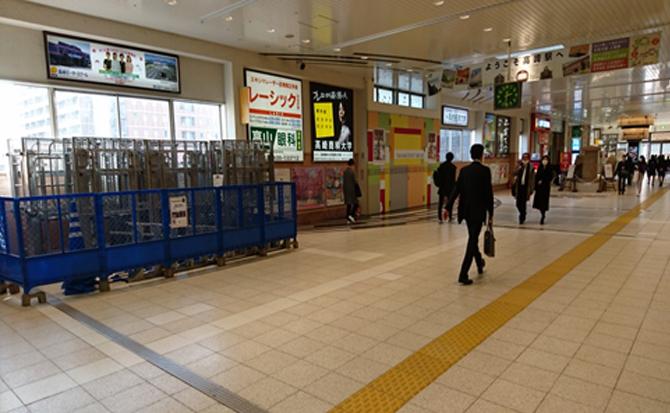 高崎駅改札を出て、右手に進み