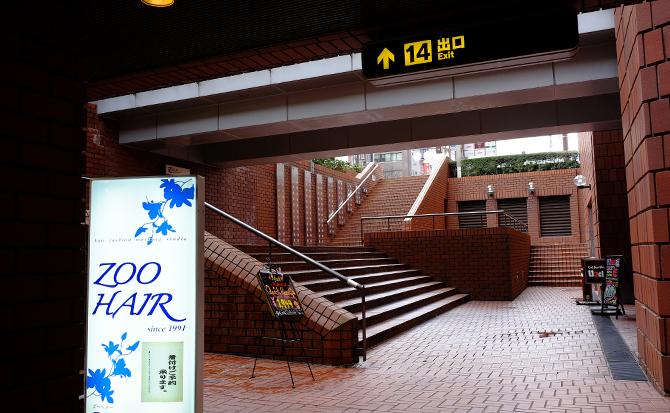 階段を登って直進し、出てすぐ、右手に進んでください。右手にベスト電器福岡本店の入口が見えますので、そのまま8階まで登ってください