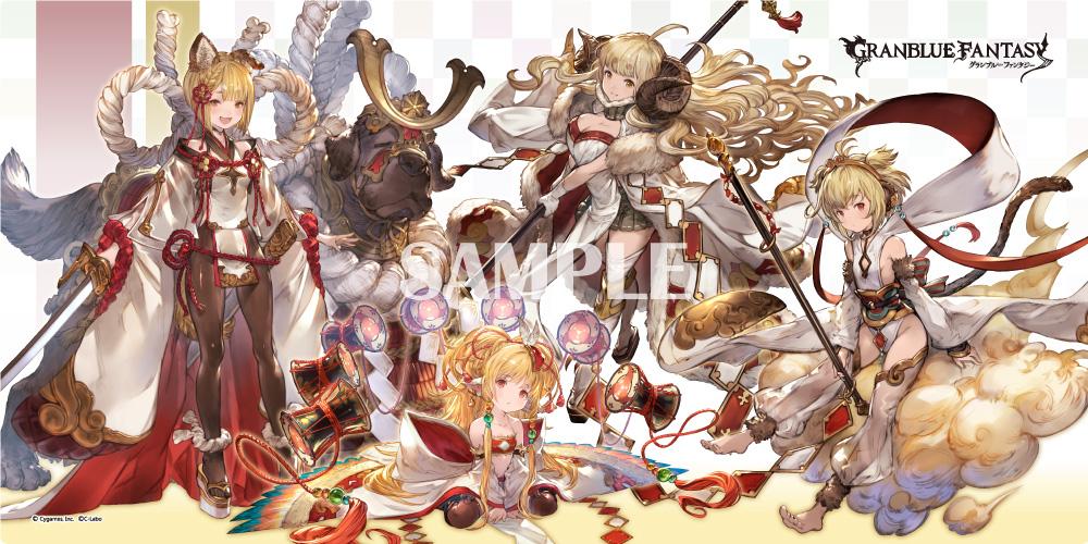 <strong>プレイマット『十二神将』</strong> ・販売価格:¥3,000 (税抜) ・サイズ[300×600 mm] ※表面:ポリエステル、裏面:ラバー製