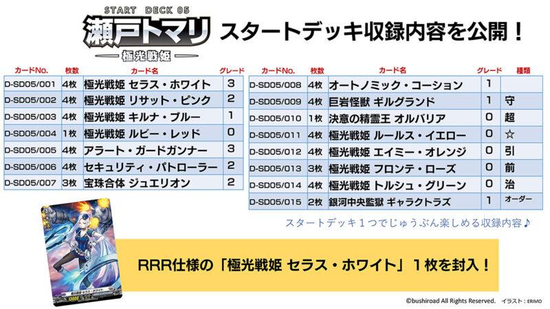 VG ヴァンガード Dスタンダード ブラントゲート 瀬戸トマリ -極光戦姫-